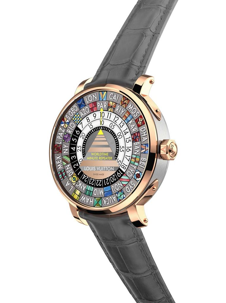 Louis Vuitton's Worldtime Minute Repeater is an ideal watch for globetrotters and businessmen with a taste for complications and originality.