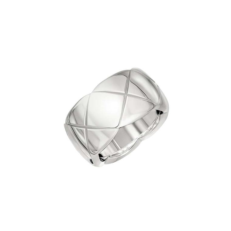 Medium white gold ring from the new Coco Crush collection of Chanel jewellery.