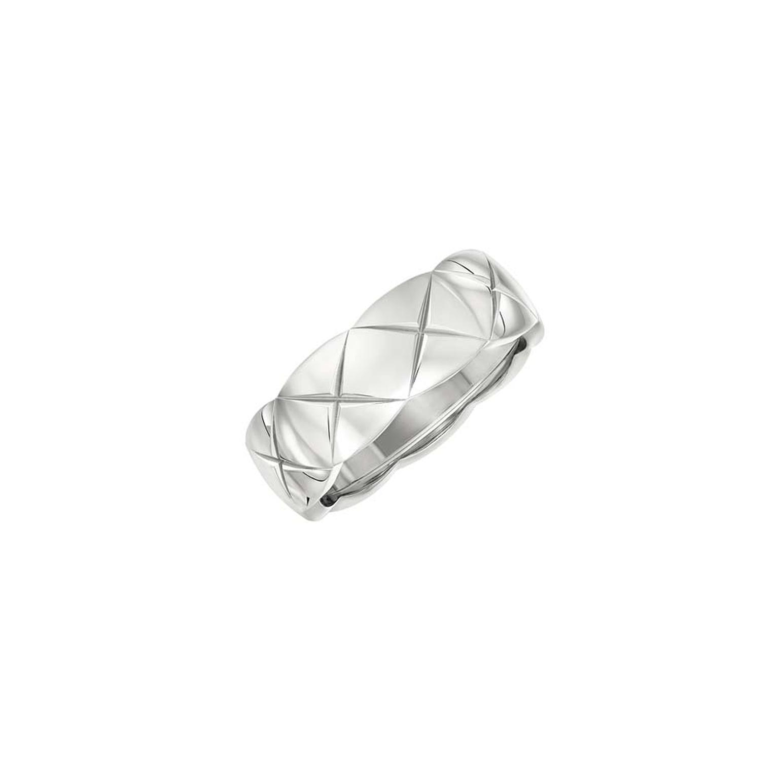 Small white gold ring from Chanel's new Coco Crush collection of fine jewellery.