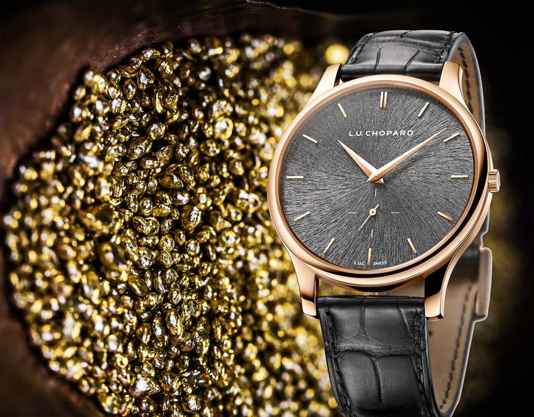 Chopard L.U.C XPS Fairmined gold watch is a limited edition of 250 pieces and is available exclusively in Chopard boutiques.
