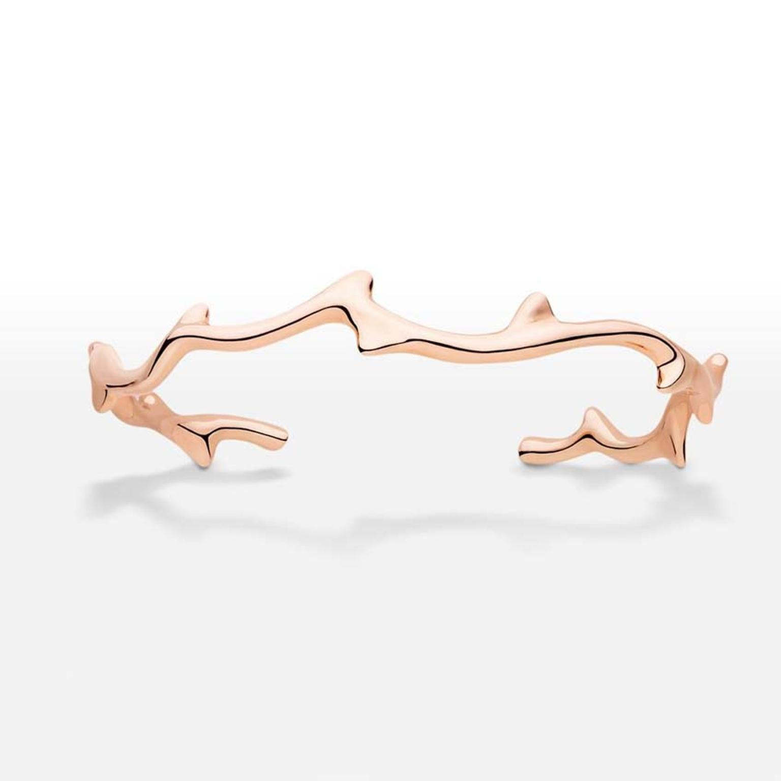 Rose gold Dior bracelet from the Bois de Rose collection, which pays homage to Christian Dior's favourite flower.