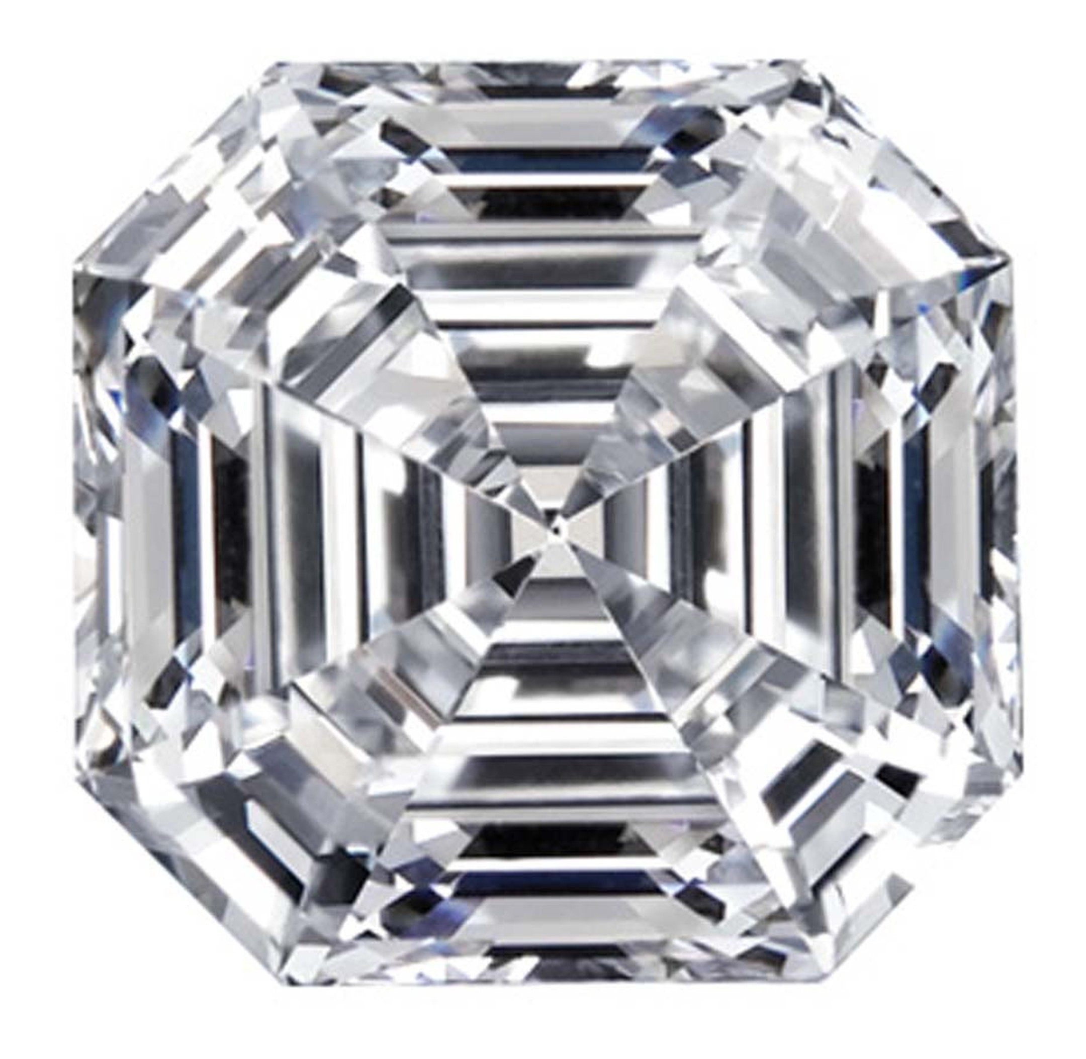 Joseph Asscher's great-grandsons Edward and Joop created the Royal Asscher cut in 2001. It has 74 facets, which are all precisely measured to ensure a perfectly symmetrical cut.