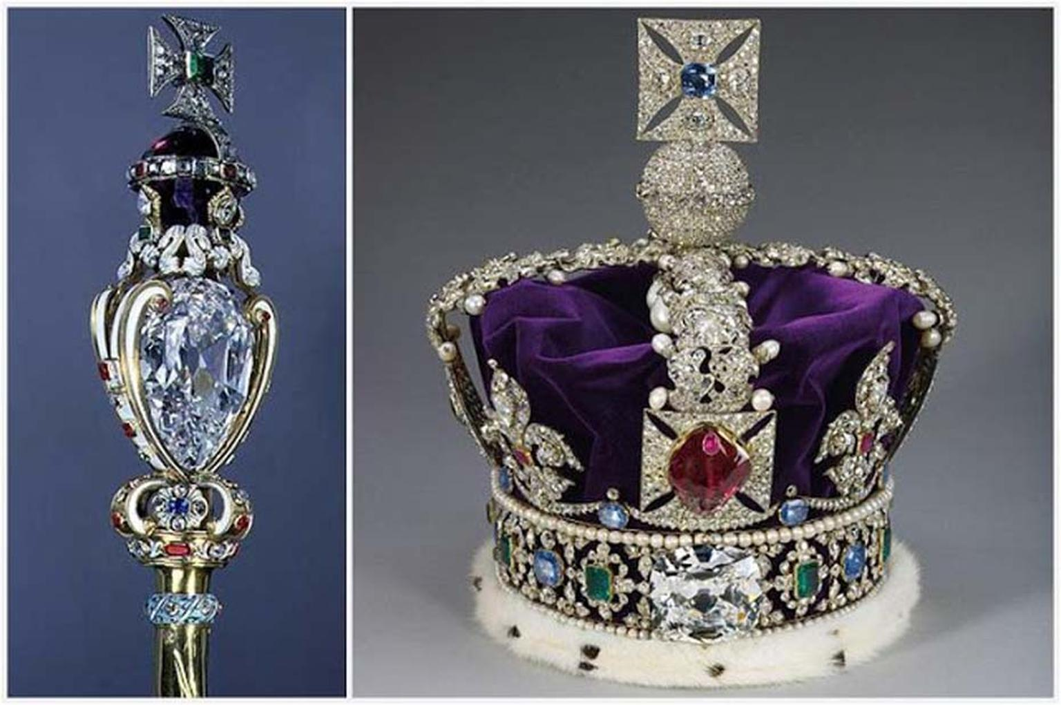 After Joseph Asscher cut the enormous 3,106ct Cullinan diamond in 1902, the two biggest diamonds, Cullinan I and Cullinan II, were set into the Sovereign's Sceptre and the Imperial State Crown, both of which are part of the British Crown Jewels.