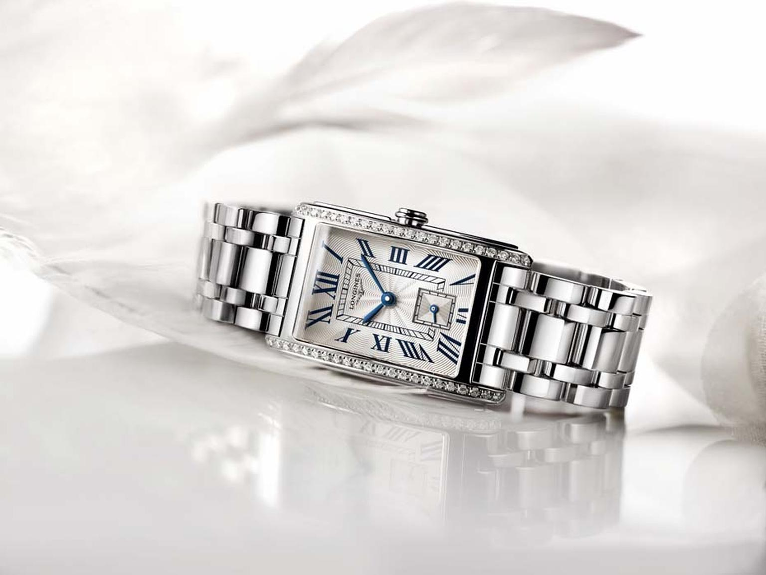 Mothers Day Watches US_Longines_Dolce Vita stainless steel watch with diamonds side.jpg