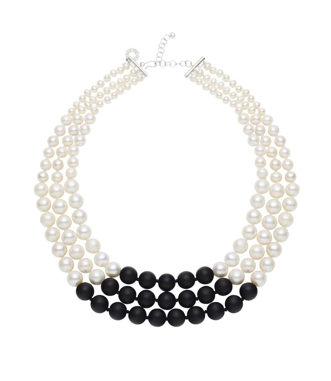 Jan Logan Tribella pearl and onyx necklace.