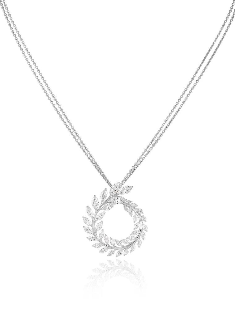 Chopard diamond necklace from the new Green Carpet collection, made from Fairmined gold.