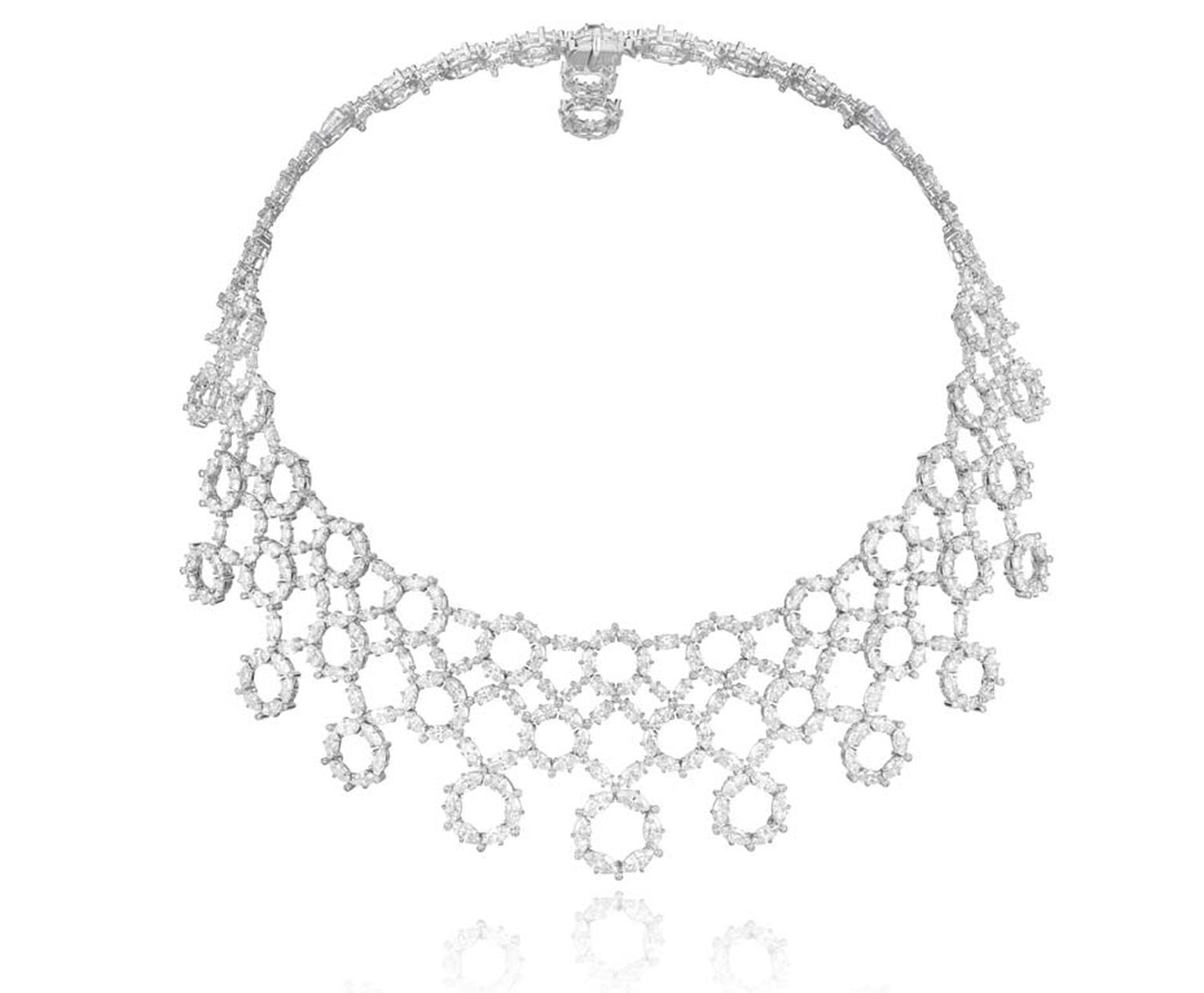 Chopard diamond collar necklace from the 2015 Red Carpet collection of high jewellery.