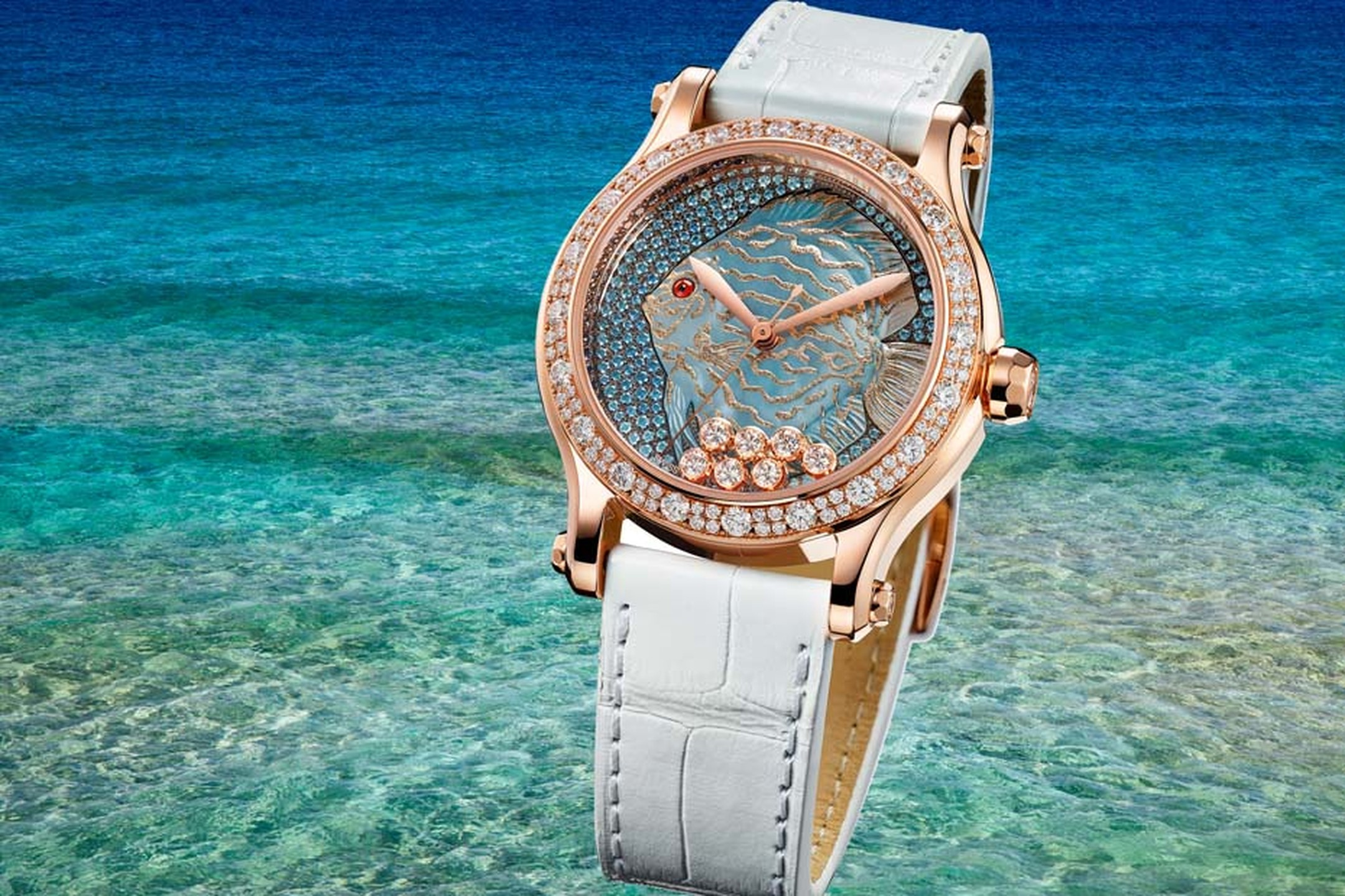 Chopard Happy Fish watch from the Happy Sport collection.