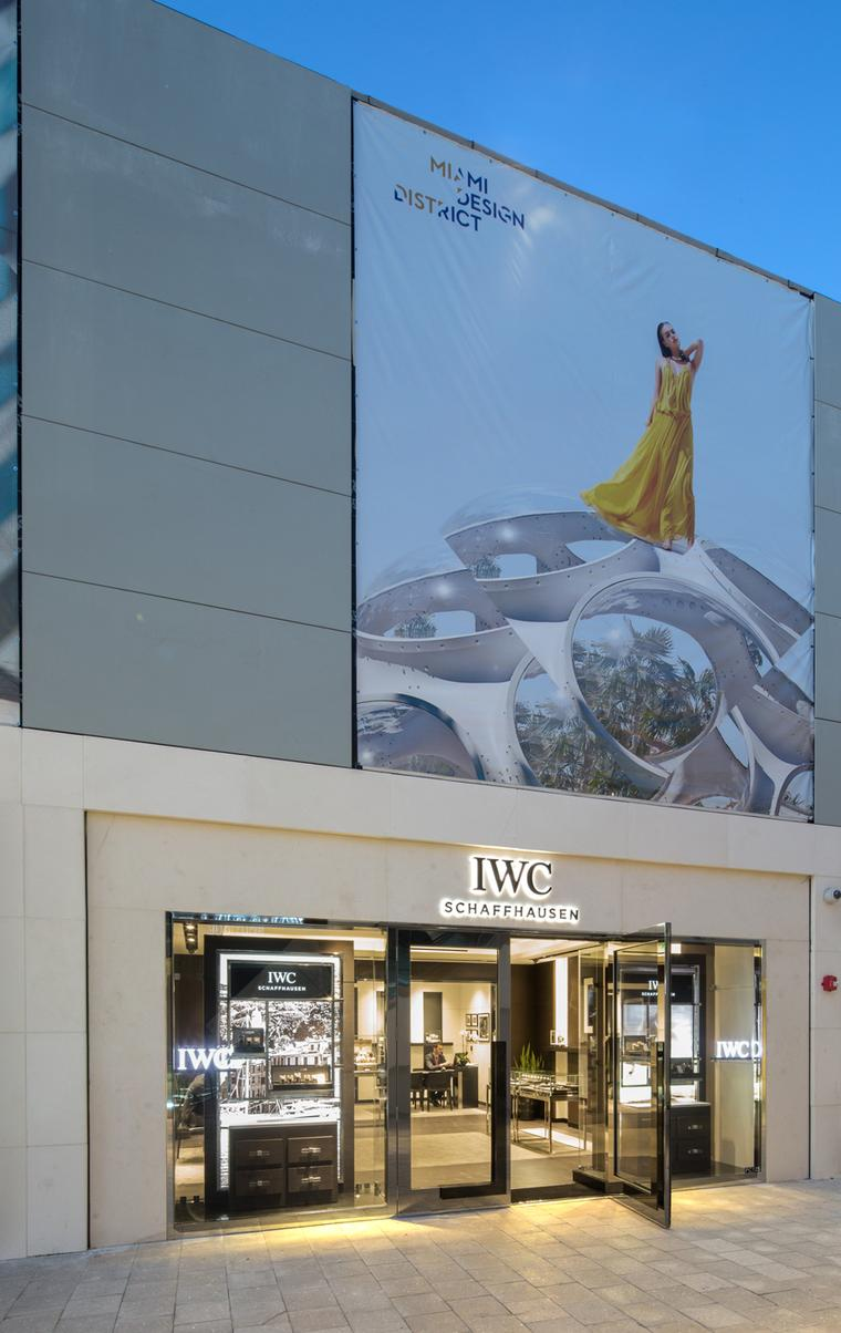 Luxury Swiss watchmaker IWC boutique in the Miami Design District.