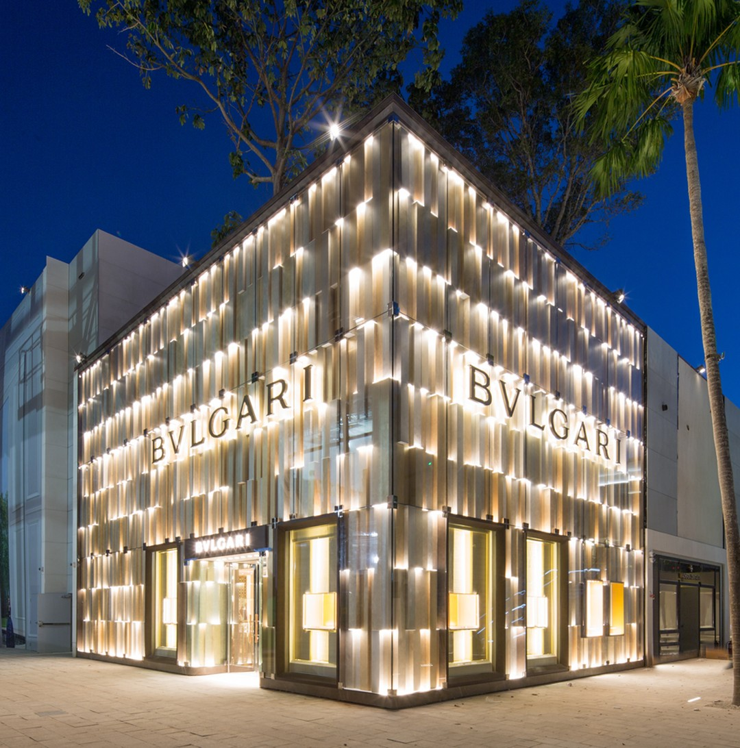 Bulgari jewelry is one of the more recent additions to the Miami Design District, opening its store in 2014.