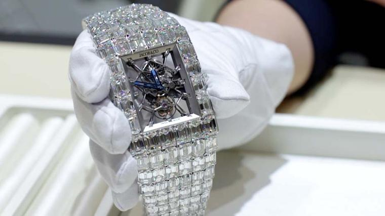 The Jacob & Co. Billionaire watch, with its spectacular skeletonised dial and 260ct of emerald-cut diamonds, is a watch for connoisseurs with a streak of exhibitionism.