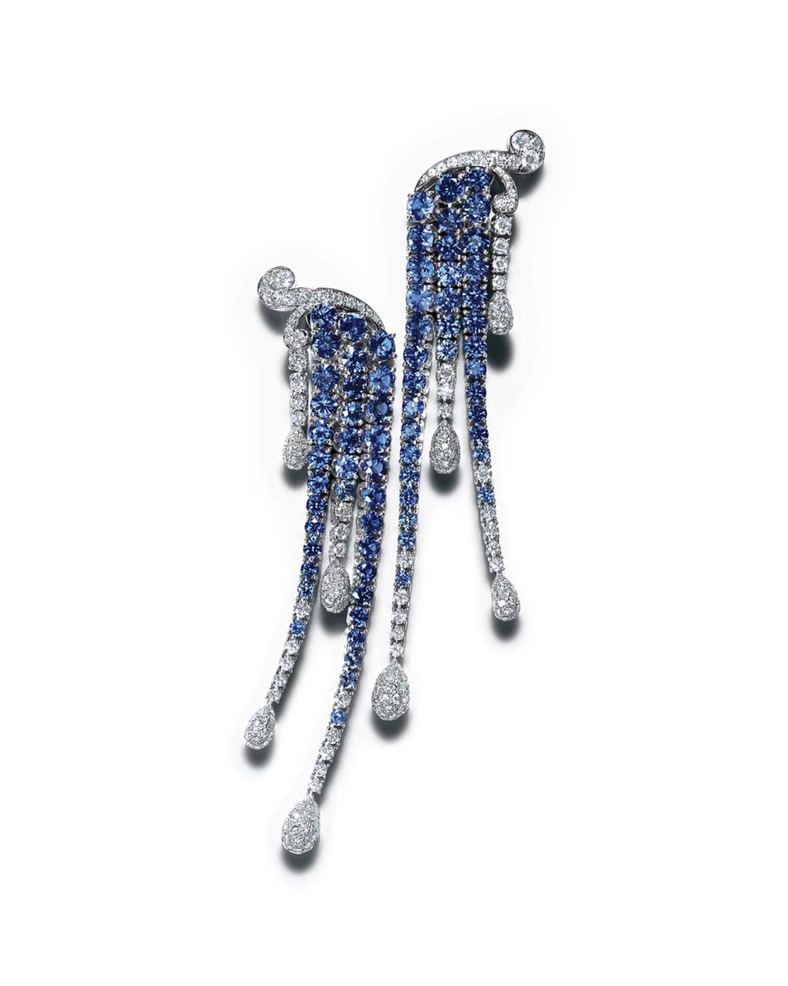 Tiffany earrings with sapphires and diamonds
