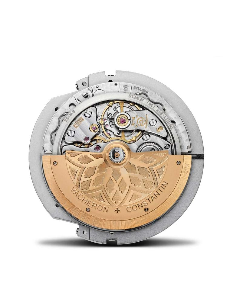 The Vacheron Constantin Savoirs Enluminés collection's original dial display is made possible by an exclusive mechanism: self-winding Calibre 1120 AT, built on an ultra-thin base movement of just 5.45mm. The gold oscillating weight features a tapestry-lik
