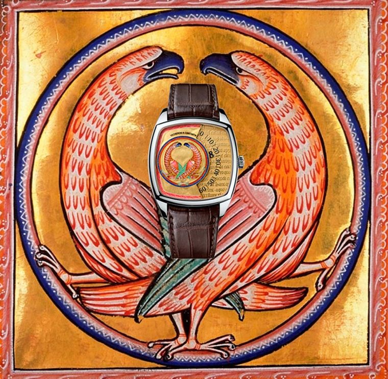 The original beasts of the 12th century Aberdeen Bestiary were designed to impart symbolic moral messages to a culture that relied almost entirely on visual metaphors. This Vacheron Constantin Vultures watch features two birds creating a circle to symboli
