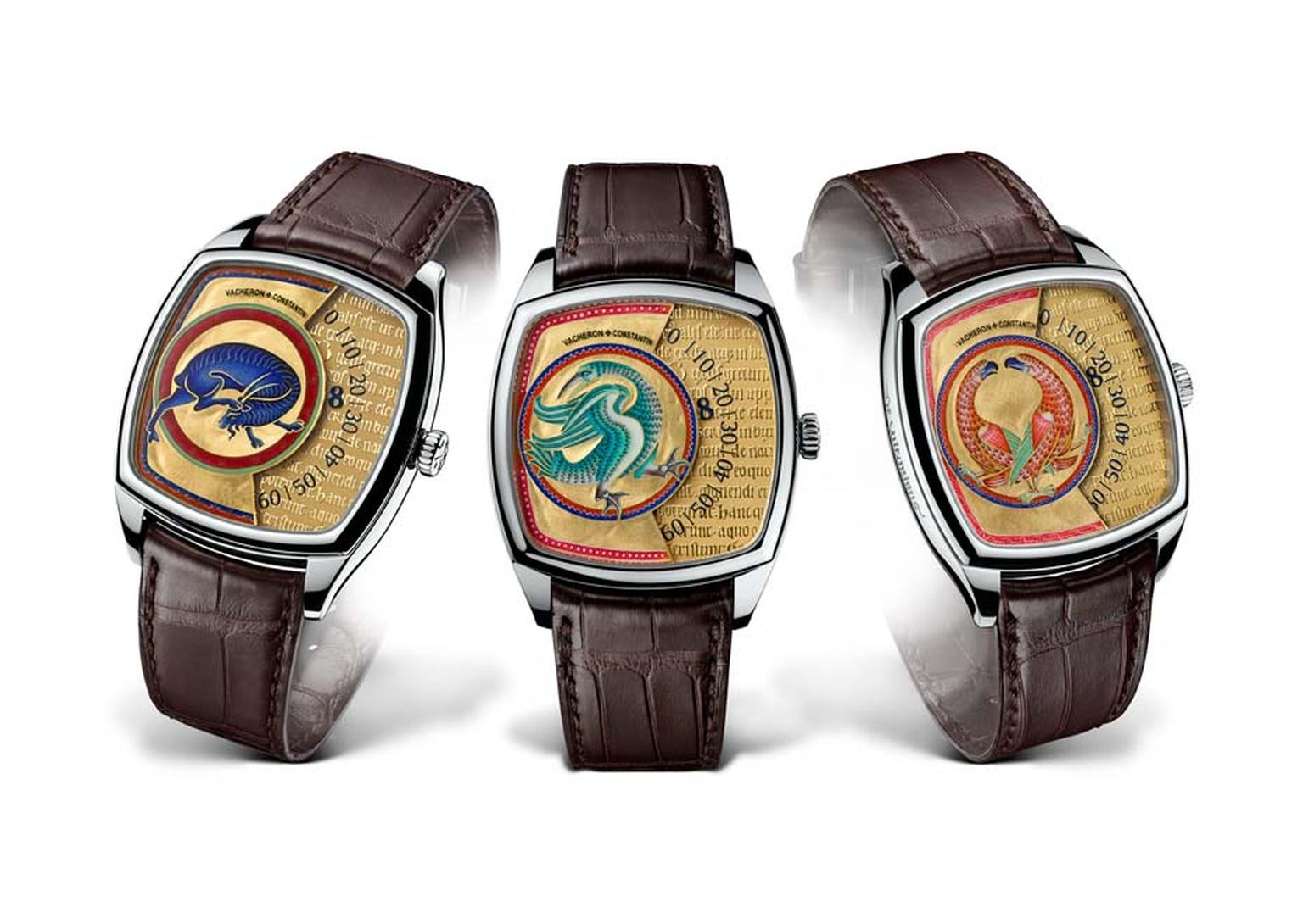 Vacheron Constantin has recreated the illuminating beauty of the Aberdeen Bestiary with its Métiers d'Art Savoirs Enluminés collection of men's watches featuring three different beasts from the historical manuscript. Each model is a limited edition of jus
