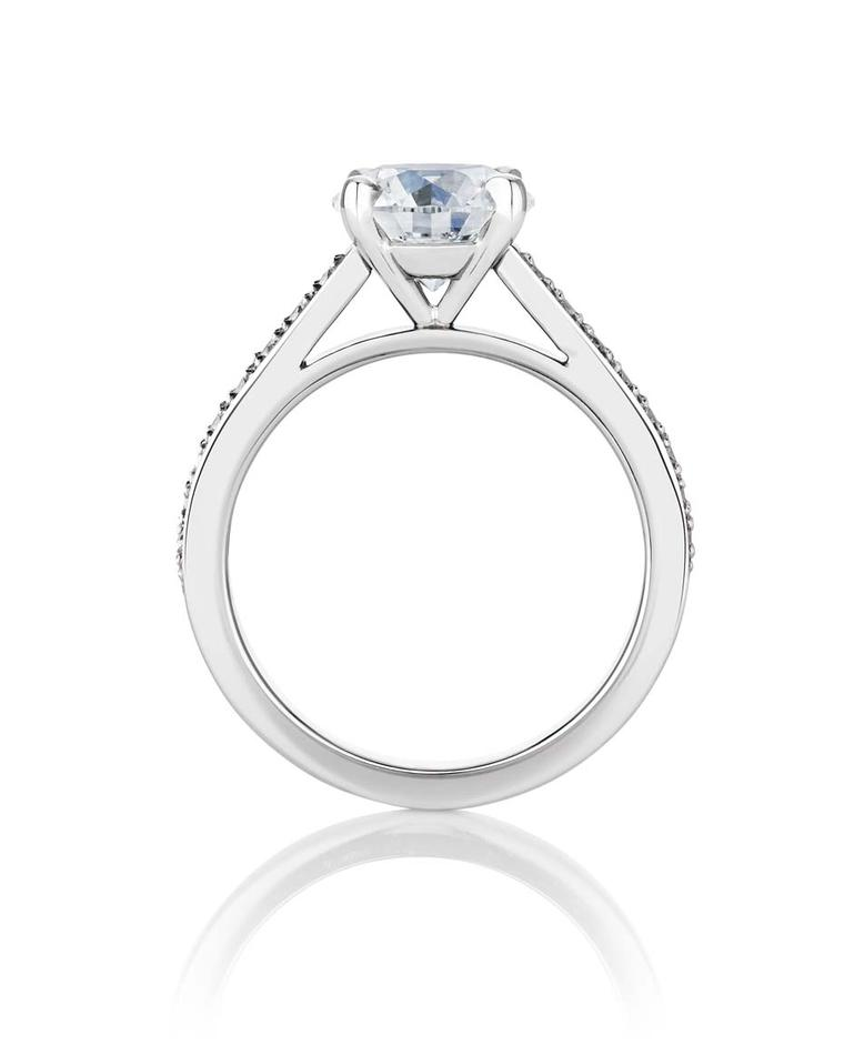 The new De Beers Old Bond Street engagement ring is available with a diamond of 1.50 or 2.00ct. It sits alongside the existing collection of De Beers engagement rings, which includes the newly launched Infinity diamond solitaire ring.