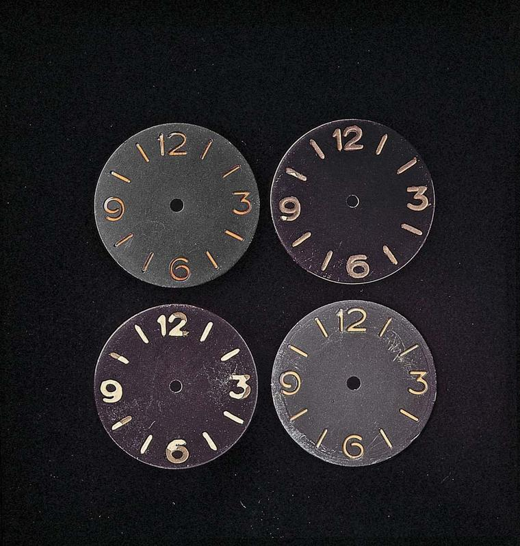 Dials of the Radimoir watch in 1938 were simplified and displayed just four large Arabic numerals. The luminescence of the watch was achieved thanks to the use of a sandwich dial consisting of two overlapping plates. The upper dial featured the four large