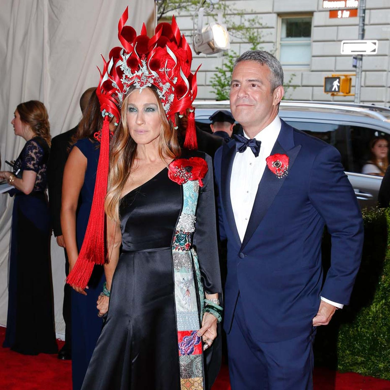 Sarah Jessica Parker may have divided opinion with her Philip Treacy flaming headdress, but her choice of high-street gown by H&M and Cindy Chao Winter Branches brooch, Jennifer Fisher custom-made jade bracelets and Fred Leighton diamond drop earrings was