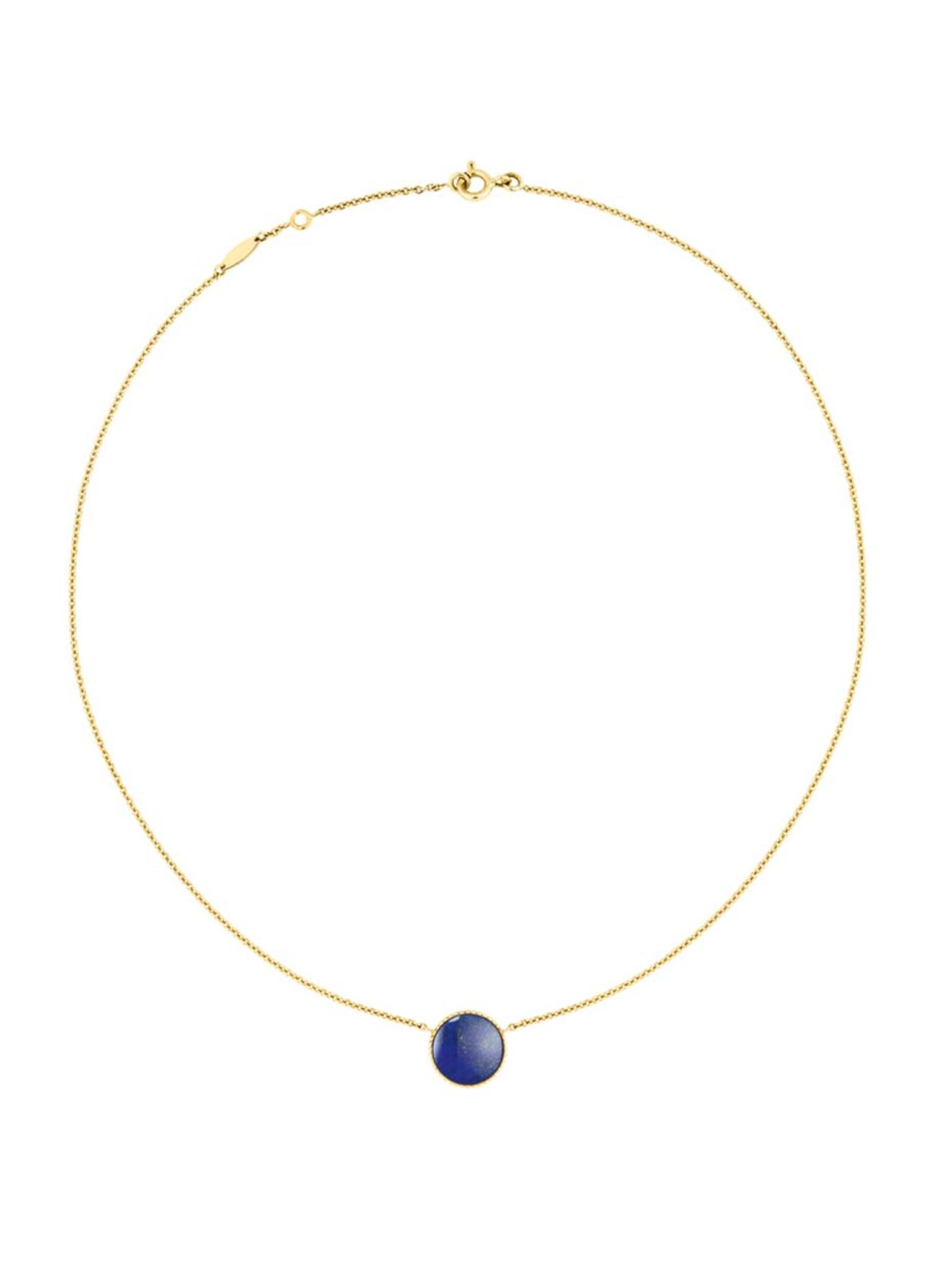 The gemstones featured in Dior's Rose Des Vent collection are said to make reference to ship rigging and the ocean, and this lapis lazuli stone perfectly reflects the colour of the ocean at night.