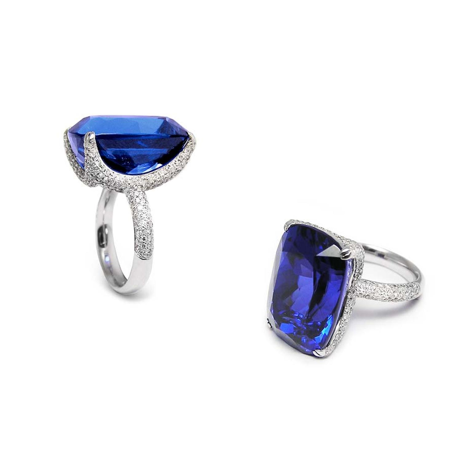 engagement tanzanite pin rings beautiful