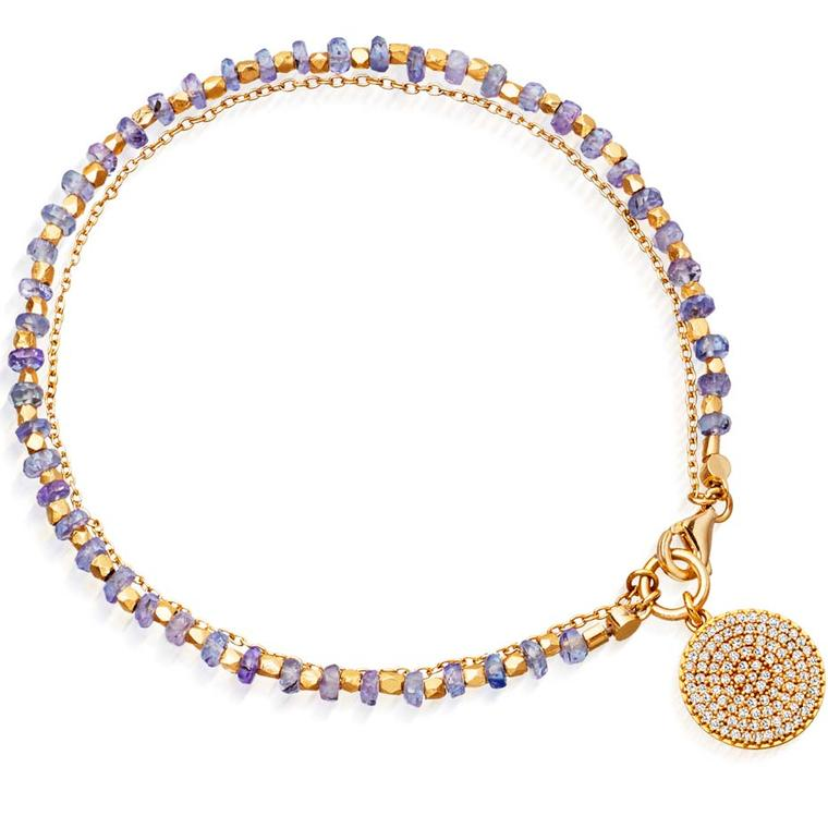 14ct yellow gold and tanzanite icon bracelet from Astley Clarke's fine biography collection.