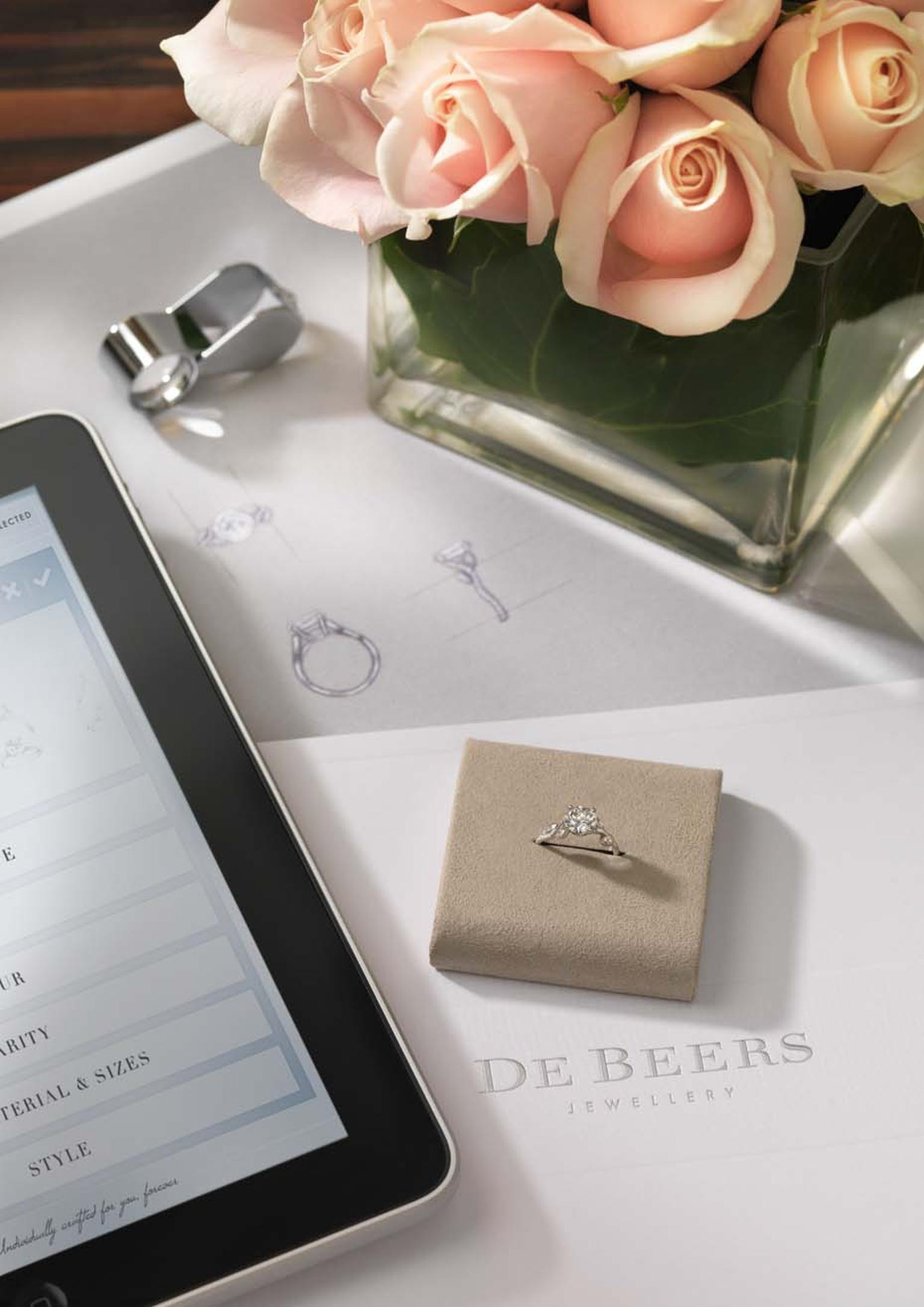 "De Beers recently launched an in-store iPad app as part of its ""For You, Forever"" bespoke engagement ring service, which customers can have fun playing with when they visit a De Beers boutique."