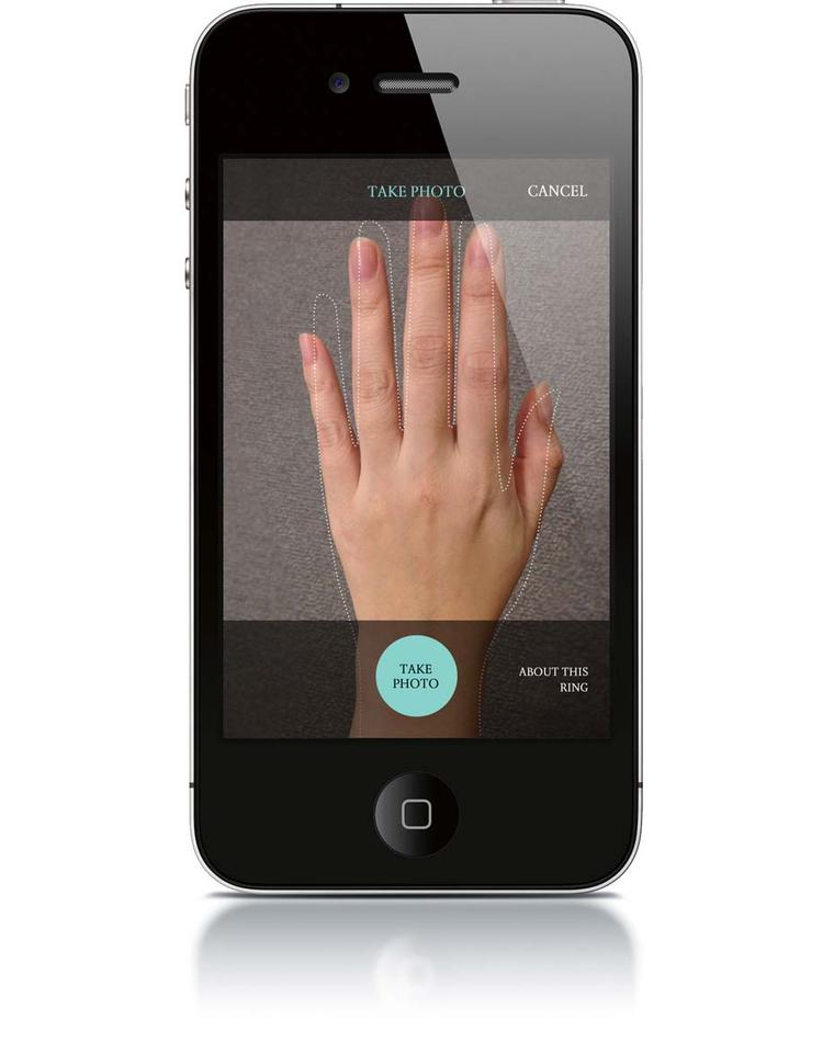Tiffany & Co. recently launched a new bridal app feature, the ring sizer, which allows users to physically place a ring on the screen and align it with a circle to determine ring size.