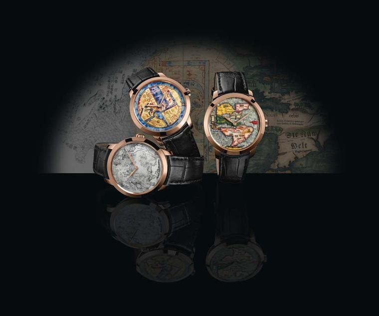 Girard-Perregaux presents The Chambers of Wonders collection, depicting three world maps and three unique visions of the world from the Renaissance.