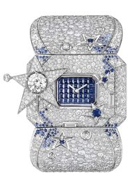 The Chanel Les Éternelles de Chanel Comète Secret watch is like wearing the Milky Way on your wrist with its profusion of diamonds and sapphires.