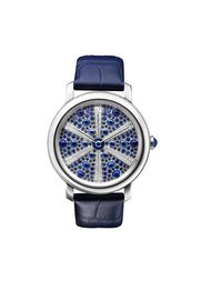 Boucheron Épure d'Art Oursin ladies' watches recreate the bumpy, domed-shaped surface of a sea urchin by graduating the size and colour of the sapphires, cabochons and diamonds to great effect.