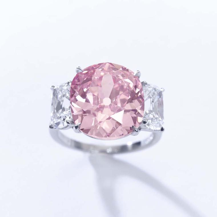 Sotheby's pink diamond ring