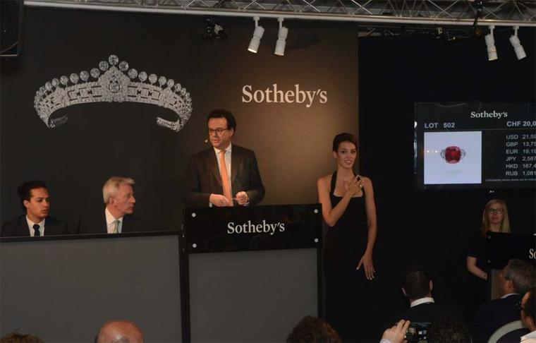 The sale of the record-breaking Sunrise Ruby helped take the total sales at Sotheby's Geneva to a dizzying $160.9 million, the highest total ever for a jewellery auction.