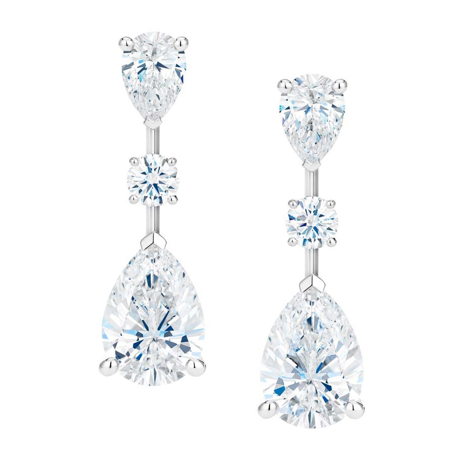 De Beers Clic Diamond Solitaire Earrings With Detachable Drops From The New Of Light