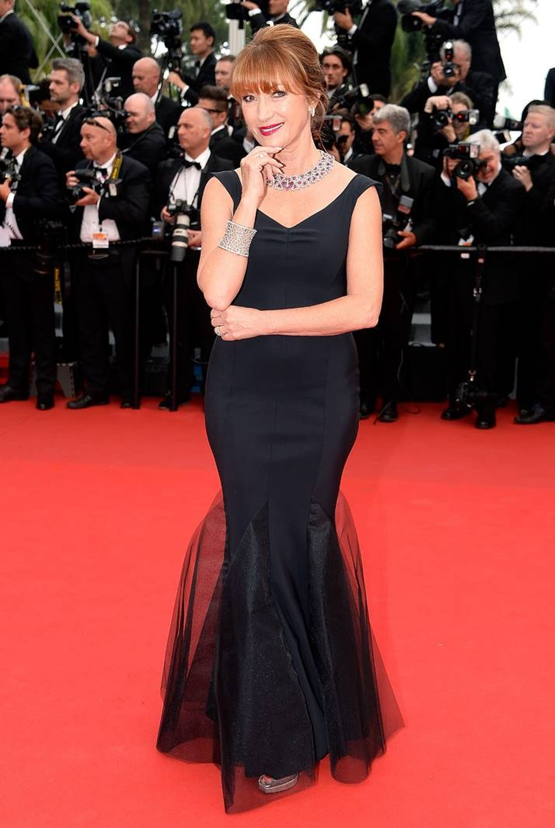 Actress Jane Seymour dazzled with her red carpet jewellery, opting for an Avakian necklace and bracelet for day two of the Cannes Film Festival.