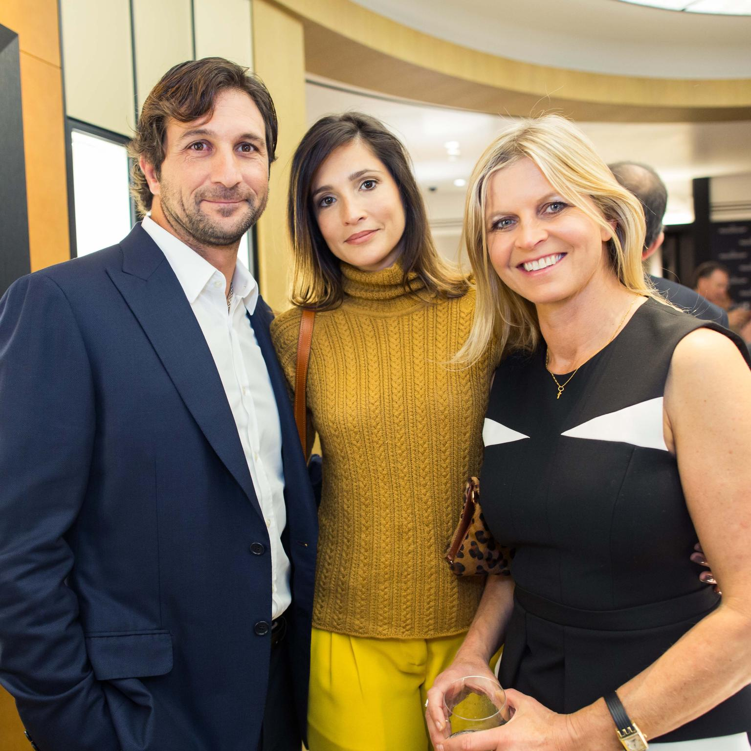 Argentine polo champion Eduardo Novillo Astrada, who features in Jaeger-LeCoultre's new advertising campaign, with his model-turned-photographer wife Astrid Munoz Astrada, and fellow polo player and long-time brand ambassador Clare Mountbatten, Marchiones