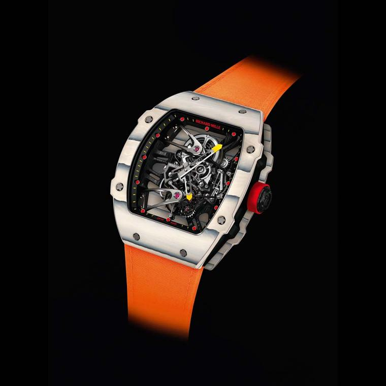Lovers of luxury watches will doubtless spot Rafael Nadal's new RM 27-02, especially designed by Richard Mille, at the French Open 2015. A manual-winding tourbillon calibre, this watch packs as much high technology into its diminutive case as an F1 car.