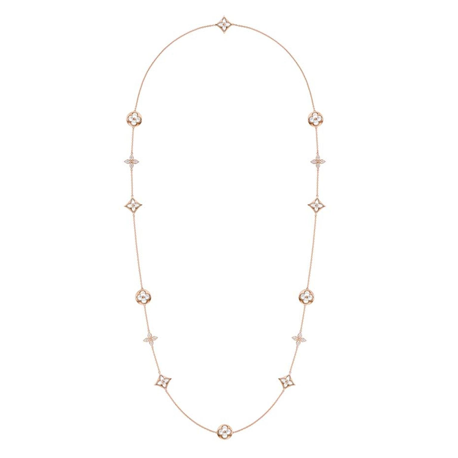 This it the first time Louis Vuitton jewellery has used mother-of-pearl in its Monogram collection, but since Vuitton prides itself on doing things its own way, the mother-of-pearl is facetted into a gently rounded cabochon shape. This adds extra depth an