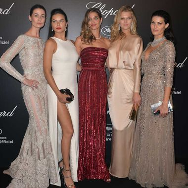 Models from around the world were in attendance at Chopard's annual Cannes party, including Erin O'Connor, Adriana Lima, Ana Beatriz Barros, Toni Garrn and Isabeli Fontana.
