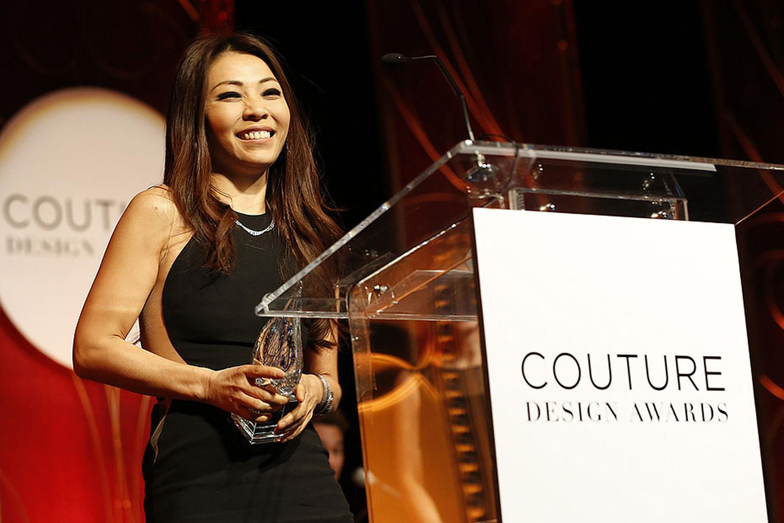 Designer Nam Cho took home a Design Award in the Colored Gems Above 20k category at the 2014 Couture Show Las Vegas.