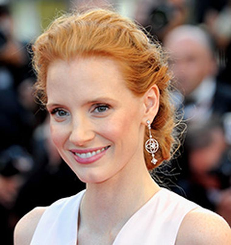 Jessica Chastain wore Louise Vuitton earrings Les Ardentes