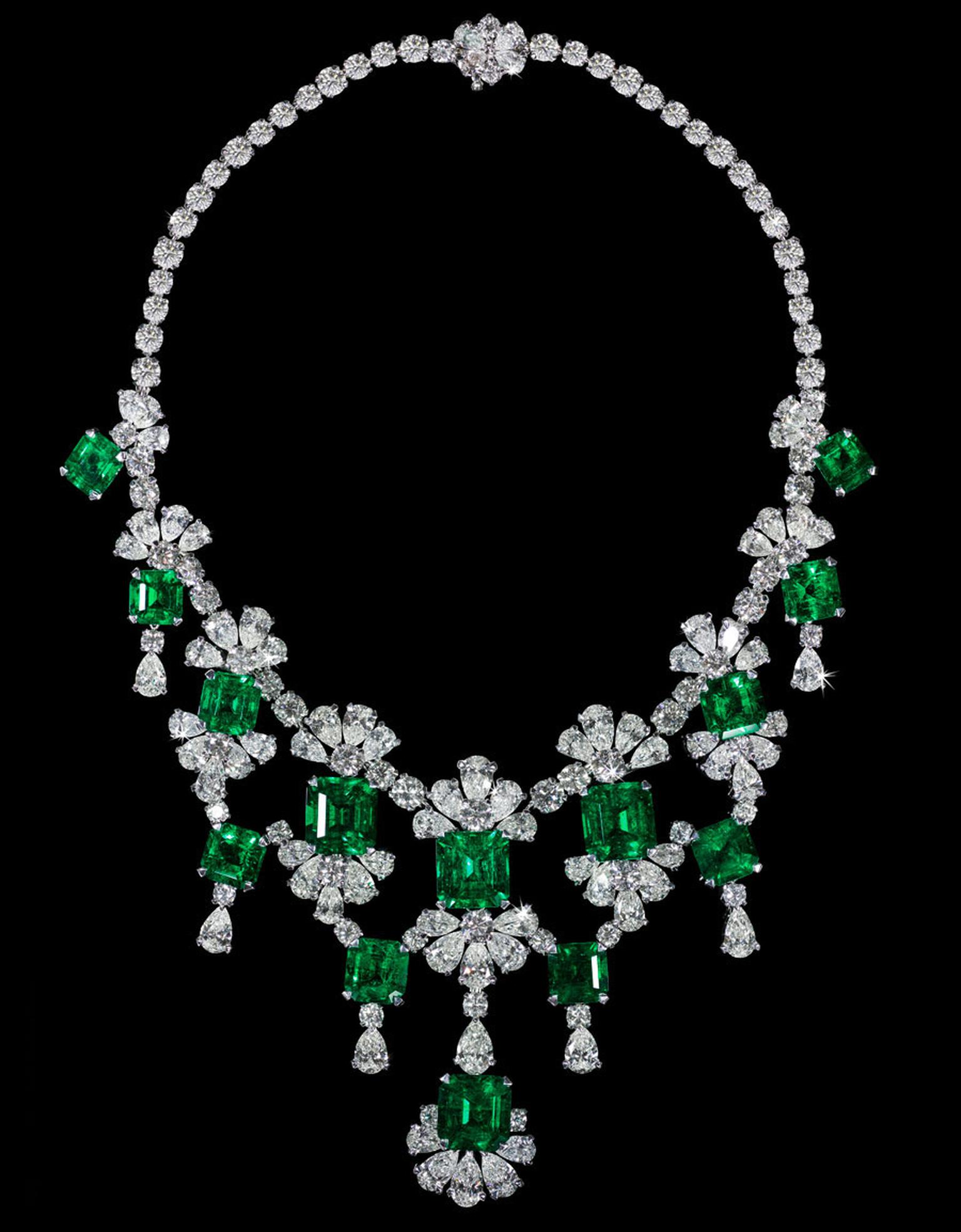 David Morris Colombian-Emerald-Diamond-Necklace