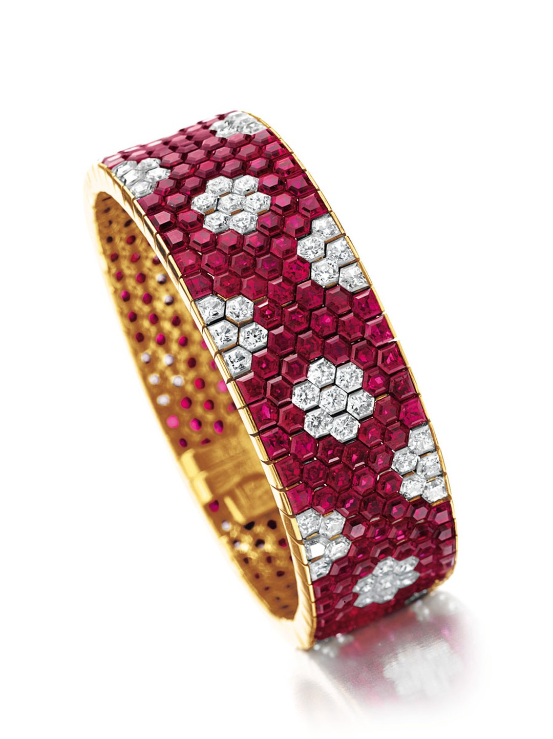 Christies-ruby-and-diamond-bracelet-by-Van-Cleef