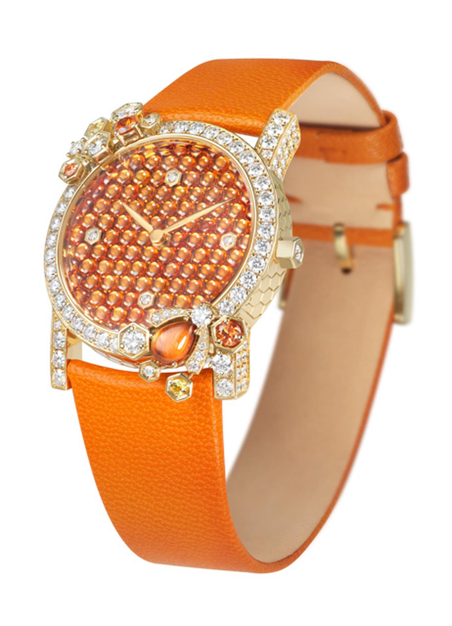 Chaumet Atrappe-Moi Cabochon watch orange