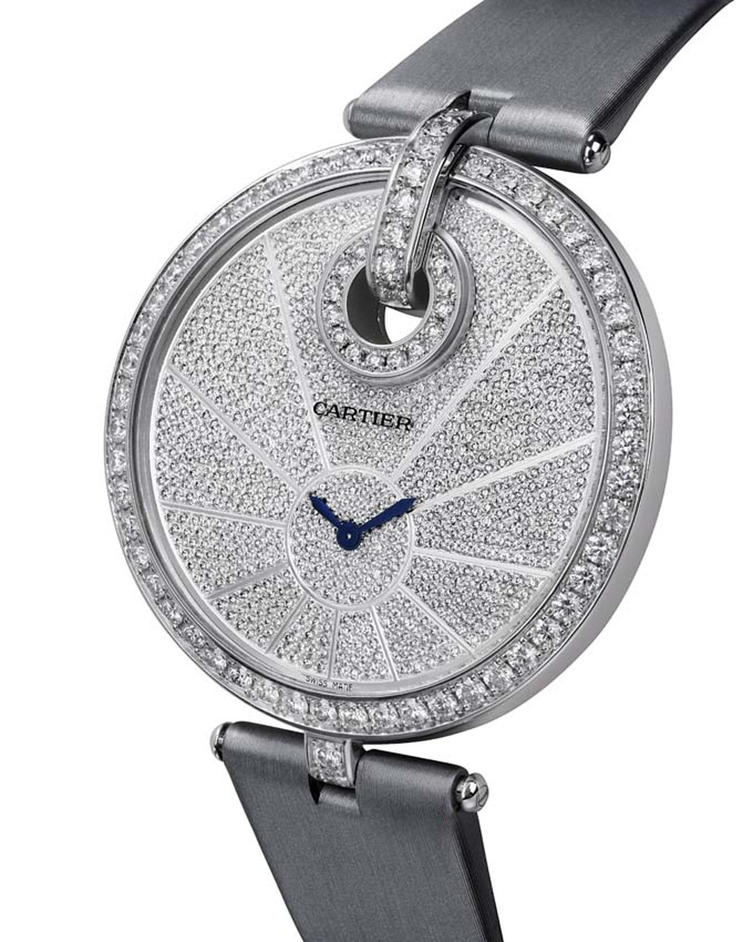 Cartier's Captive watch in white gold with diamonds
