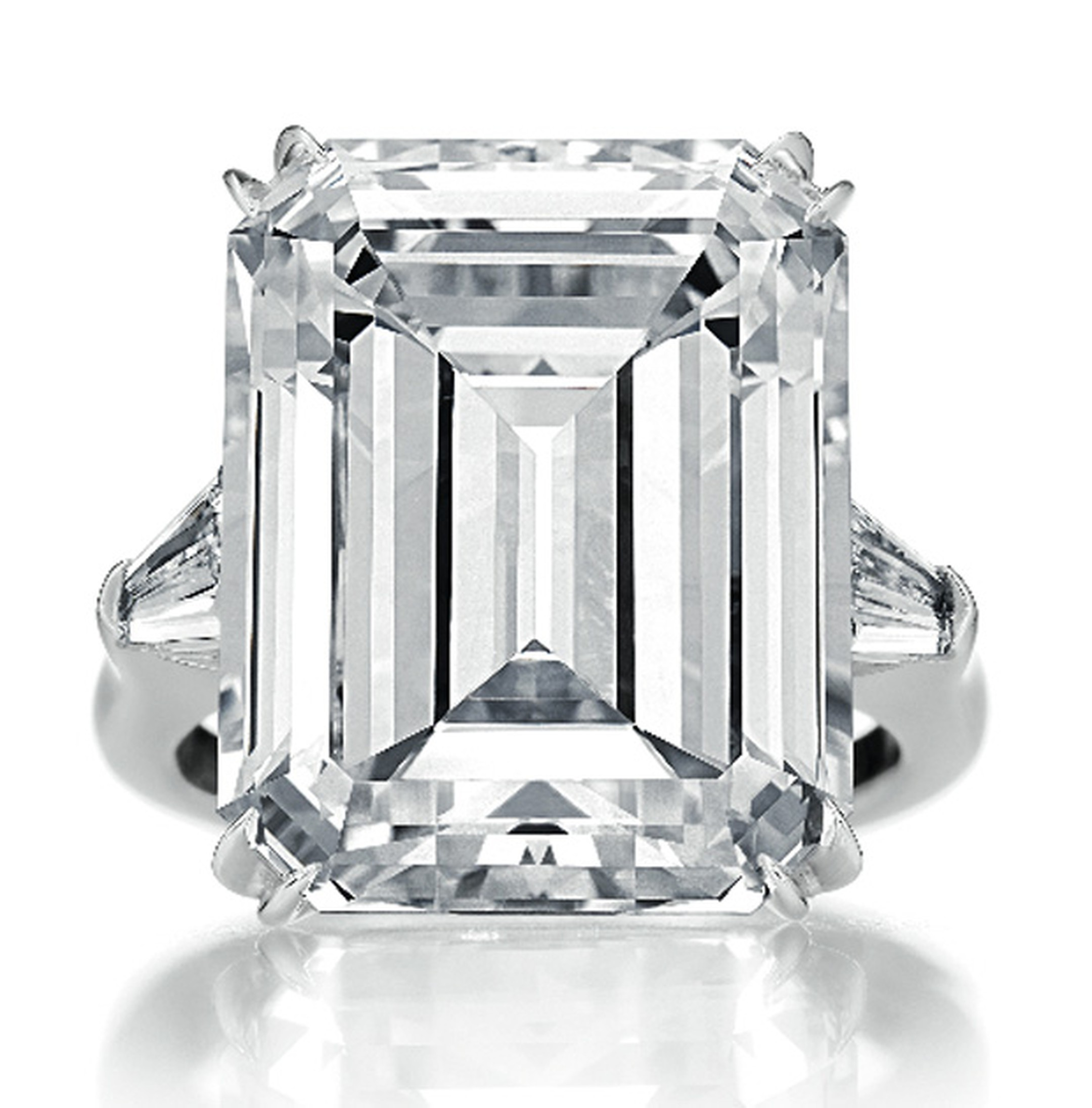 Harry Winston Classic emerald-cut diamond ring