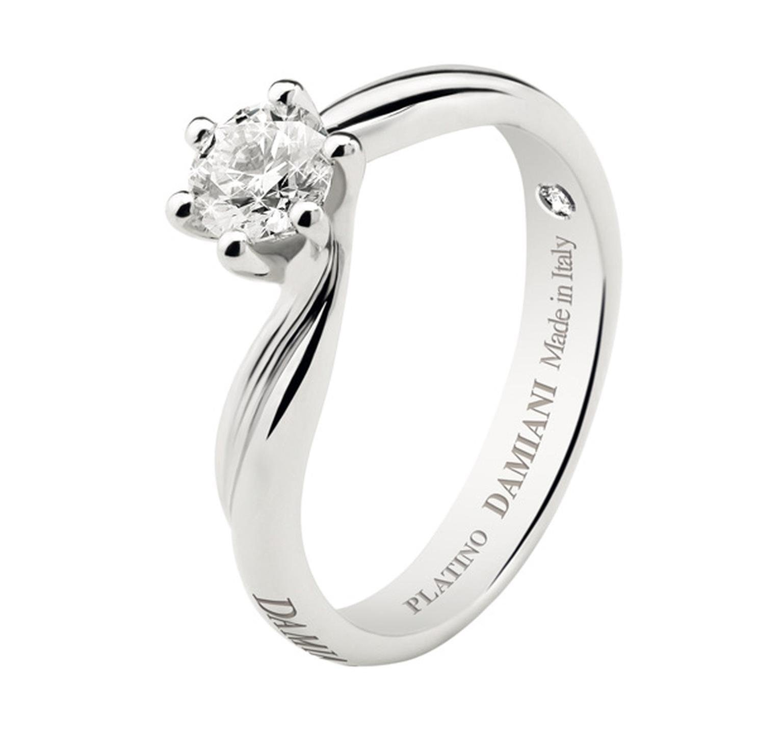 Damiani Sinfonia diamond solitaire in platinum