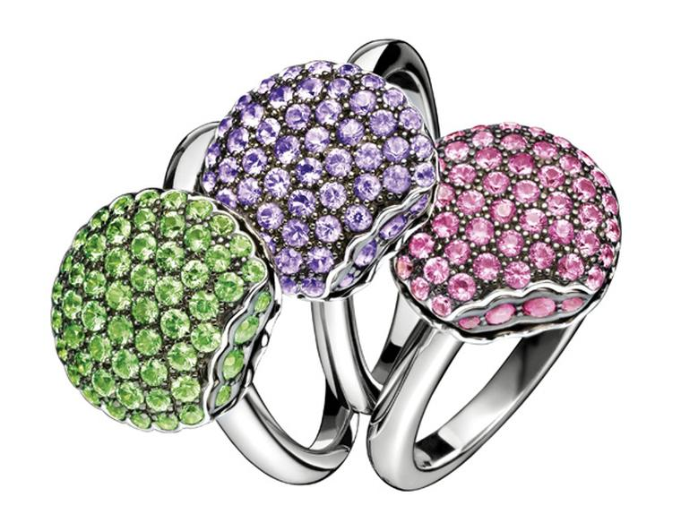 Boucheron Mini Macroon rings