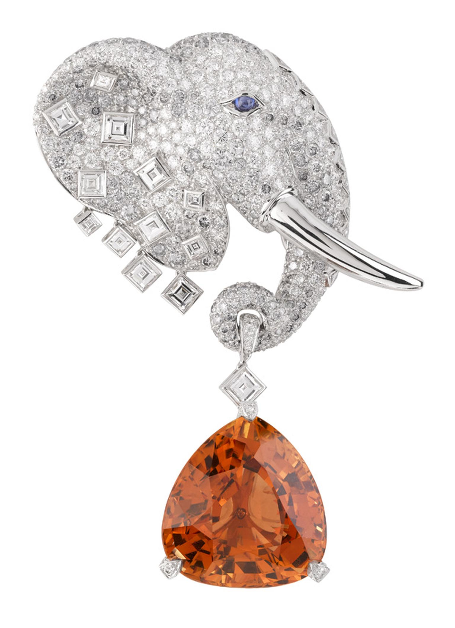 Van Cleef & Arpels Les Voyages Extraordinaires Maximus clip with Imperial Topaz
