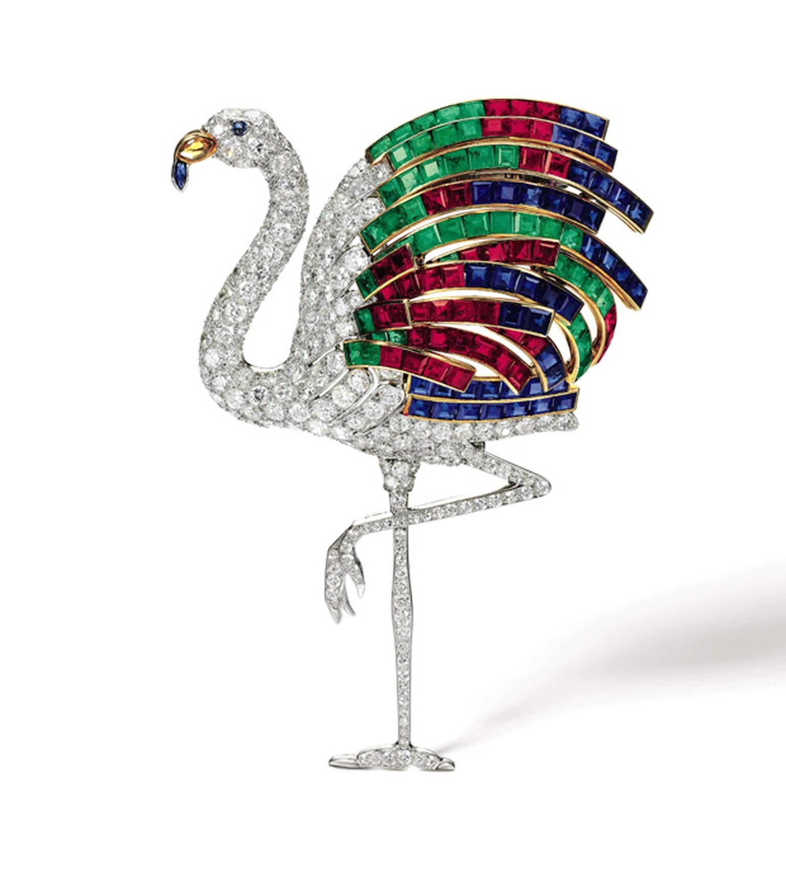 Lot 20 Cartier Flamingo Clip 1940