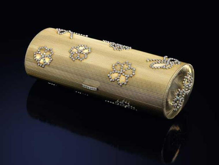 Lot 10 Cartier Gold and Diamond Necessaire du Soir